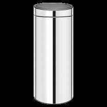 Papperstunna Touch Bin New 30L blankt stål