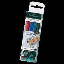 Märkpenna Faber-Castell Multimark SF P 4-set