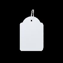 Etikett med snöre 36x53 mm 500/fp