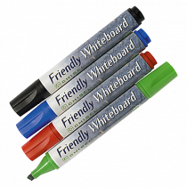 Whiteboardpenna Friendly 2-5 mm 4-set