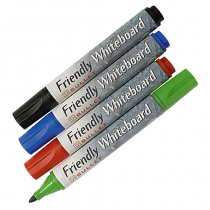 Whiteboardpenna Friendly 1,5-3 mm 4-set