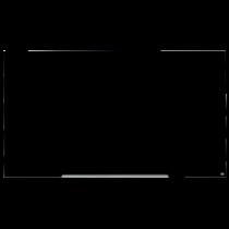 Glastavla Nobo Glas 85 tum 1890x1050 mm svart