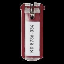 Nyckelbrickor Key Clip röd 6/fp