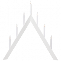 Ljusstake Arrow vit