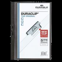 Klämmapp Duraclip A4 60 ark svart