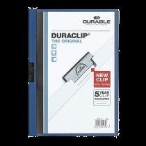 Klämmapp Duraclip A4 60 ark mörkblå