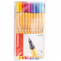 Fiberpenna Fineliner Stabilo point 88 20-set