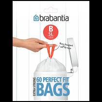 Avfallspåse PerfectFit B 5 liter 60-pack