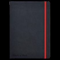 Anteckningsbok Oxford Black n' Red Hard A5 svart