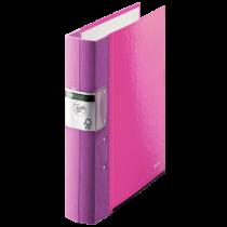 Gaffelpärm Leitz Wow 60 mm rosa