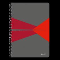 Anteckningsbok Leitz Office A4 linjerat röd