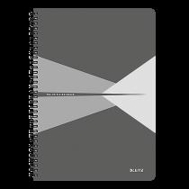 Anteckningsbok Leitz Office A4 linjerat grå