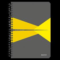 Anteckningsbok Leitz Office A5 linjerat gul