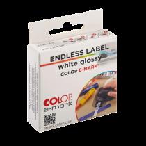 Etiketter på rulle Colop e-mark vita glossy