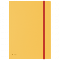 3-klaffsmapp Leitz Cosy med ficka gul