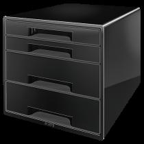 Förvaringsbox Leitz Wow 4 lådor svart