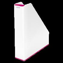 Tidskriftssamlare Leitz Wow tvåfärgad rosa
