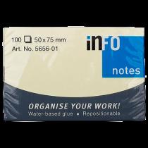 Häftis Info Notes 50x75 mm gul