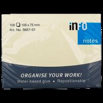 Häftis Info Notes 100x75 mm gul