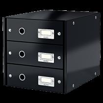 Förvaringsbox Click & Store svart