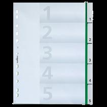 Insticksregister Durable A4 1-5