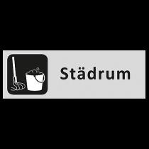 Informationsskylt Städrum