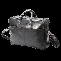 Portfölj Baoobaoo Briefcase Soft 2 Zip 15 tum svart