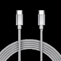 Kabel Crave USB-C till USB-C 0,9 m silver