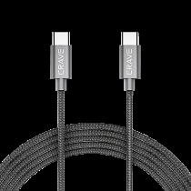 Kabel Crave USB-C till USB-C 0,9 m antracit