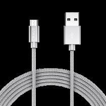Kabel Crave Mikro-USB 0,9 m silver