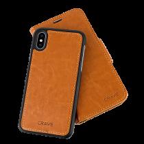 Mobilplånbok Crave iPhone X ljusbrun