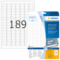 Avtagbara etiketter Herma 25,4x10 mm 4725/fp