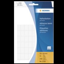 Märketiketter Herma 10x16 mm vit 2592/fp