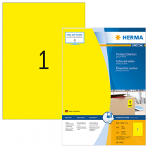 Etiketter Herma Special 210x297 gul 100/fp