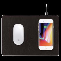 Musmatta med trådlös laddare miniBatt PowerPad svart