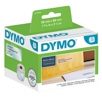 Adressetikett Dymo LabelWriter 89x36 mm transparent