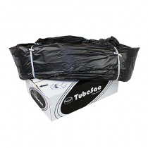 Sopsäcksslang TubeSac Den store 100 m svart
