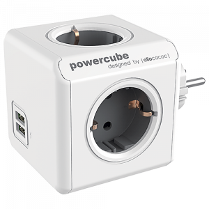 Grenuttag PowerCube 4-vägs + 2 USB