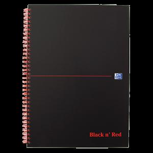Anteckningsbok Oxford Black n' Red A5 linj.