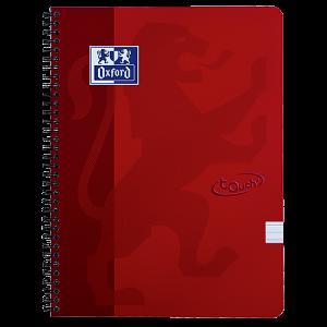 Anteckningsbok Oxford Touch A4 linjerat röd